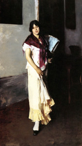 Art Prints of Italian Girl with Fan by John Singer Sargent
