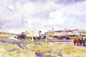 Art Prints of Landscape on the Somme by John Singer Sargent