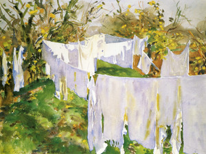 Art Prints of La Biancheria or the Linen by John Singer Sargent