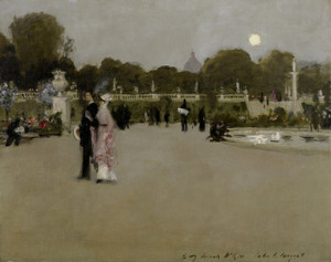 Art Prints of Luxembourg Gardens at Twilight by John Singer Sargent