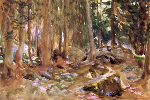 Art Prints of Pine Forest by John Singer Sargent