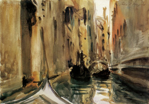 Art Prints of Rio di San Salvatore Venice by John Singer Sargent