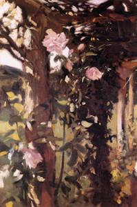 Art Prints of Roses at Oxfordshire 1886 by John Singer Sargent