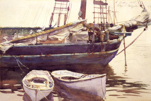 Art Prints of Schooner Catherine, Somesville Maine by John Singer Sargent