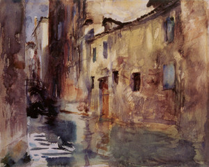 Art Prints of Side Canal by John Singer Sargent