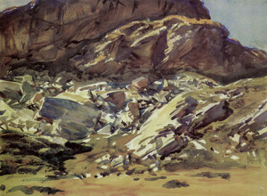 Art Prints of Simplon Pass, Crags by John Singer Sargent