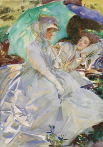Art Prints of Simplon Pass, Reading by John Singer Sargent