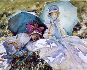 Art Prints of Simplon Pass, the Green Parasol by John Singer Sargent