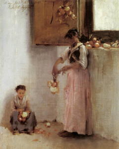 Art Prints of Stringing Onions by John Singer Sargent