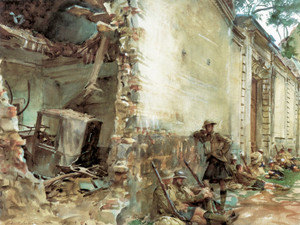 Art Prints of Street in Arras by John Singer Sargent