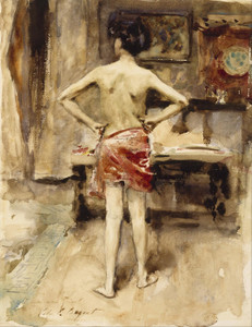 Art Prints of The Model by John Singer Sargent