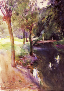 Art Prints of The Shadowed Stream by John Singer Sargent