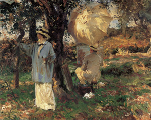 Art Prints of The Sketchers by John Singer Sargent