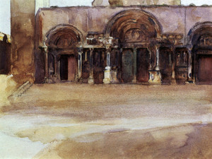 Art Prints of The West Portals of Saint Gilles du Gard by John Singer Sargent