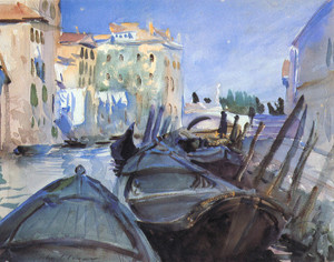 Art Prints of Venetian Canal Scene by John Singer Sargent