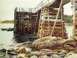 Art Prints of Wharf at Ironbound by John Singer Sargent