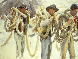 Art Prints of Workmen at Carrara by John Singer Sargent
