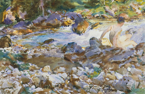 Art Prints of Mountain Stream by John Singer Sargent