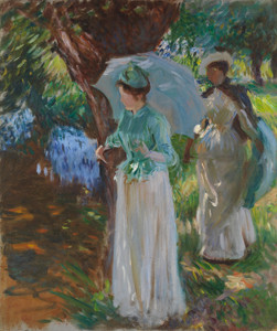 Art Prints of Two Girls with Parasols by John Singer Sargent