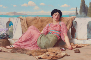 Art Prints of The Quiet Pet by John William Godward