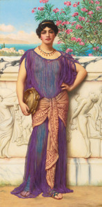 Art Prints of The Tambourine Girl by John William Godward