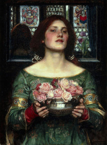 Art Prints of Gather Ye Rosebuds While Ye May by John William Waterhouse