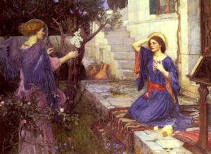 Art Prints of The Annunciation by John William Waterhouse
