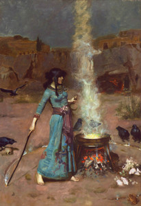 Art Prints of The Magic Circle by John William Waterhouse