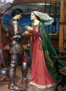 Art Prints of Tristan and Isolde with the Potion by John William Waterhouse