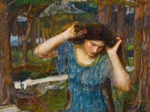 Art Prints of Vain Lamorna, a Study for Lamia by John William Waterhouse