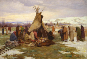 Art Prints of Dividing the Chief's Property by Joseph Henry Sharp