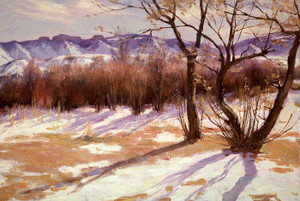 Art Prints of Winter Afternoon by Joseph Henry Sharp