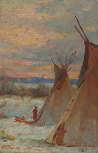 Art Prints of Winter Landscape by Joseph Henry Sharp