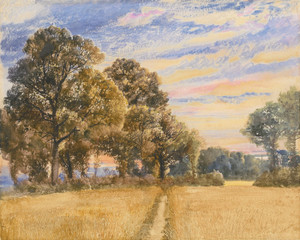 Art Prints of A Cornfield at Sunrise by Joseph Mallord William Turner
