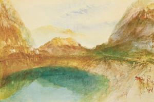 Art Prints of A Swiss Lake, Lungernzee by Joseph Mallord William Turner
