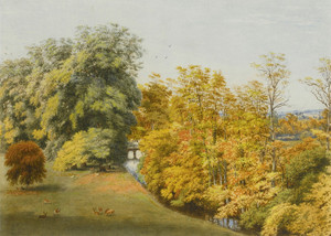 Art Prints of Addison's Walk in Autumn, Magdalen College, Oxford by William Turner