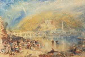 Art Prints of Heidelberg with a Rainbow by Joseph Mallord William Turner