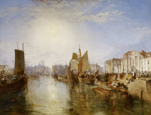 Art Prints of The Harbor of Dieppe by William Turner