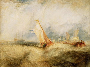 Art Prints of Van Tromp Going About to Please His Masters by William Turner