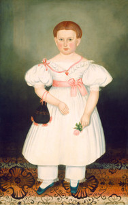 Art Prints of Girl with Reticule and Rose by Joseph Whiting Stock