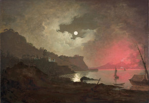 Art Prints of A View of Vesuvius from Posillipo, Naples by Joseph Wright of Derby