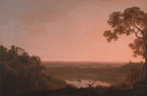 Art Prints of Lake Nemi by Joseph Wright of Derby