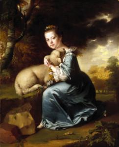Art Prints of Miss Frances Warren by Joseph Wright of Derby