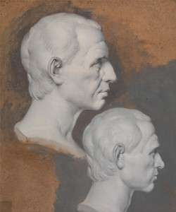 Art Prints of Studies of a Classical Bust by Joseph Wright of Derby