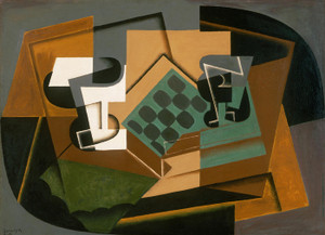 Art Prints of Chessboard, Glass and Dish by Juan Gris