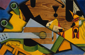 Art Prints of Still Life with a Guitar by Juan Gris