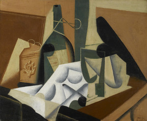 Art Prints of The White Tablecloth by Juan Gris
