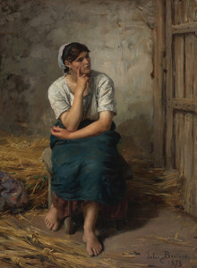 Art Prints of Peasant Girl Resting by Jules Breton