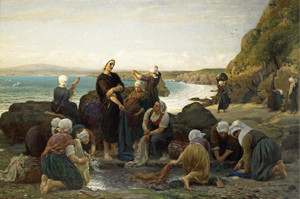 Art Prints of The Washerwomen on the breton Coast by Jules Breton