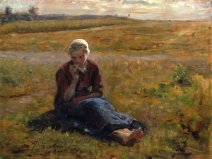 Art Prints of Study for the Snack by Jules Breton